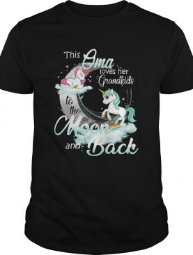 This Oma Loves Her Grandkids To The Moon And Back Unicorn shirt