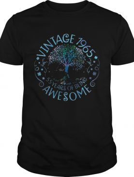 Vintage 1965 55 Years Of Being Awesome shirt