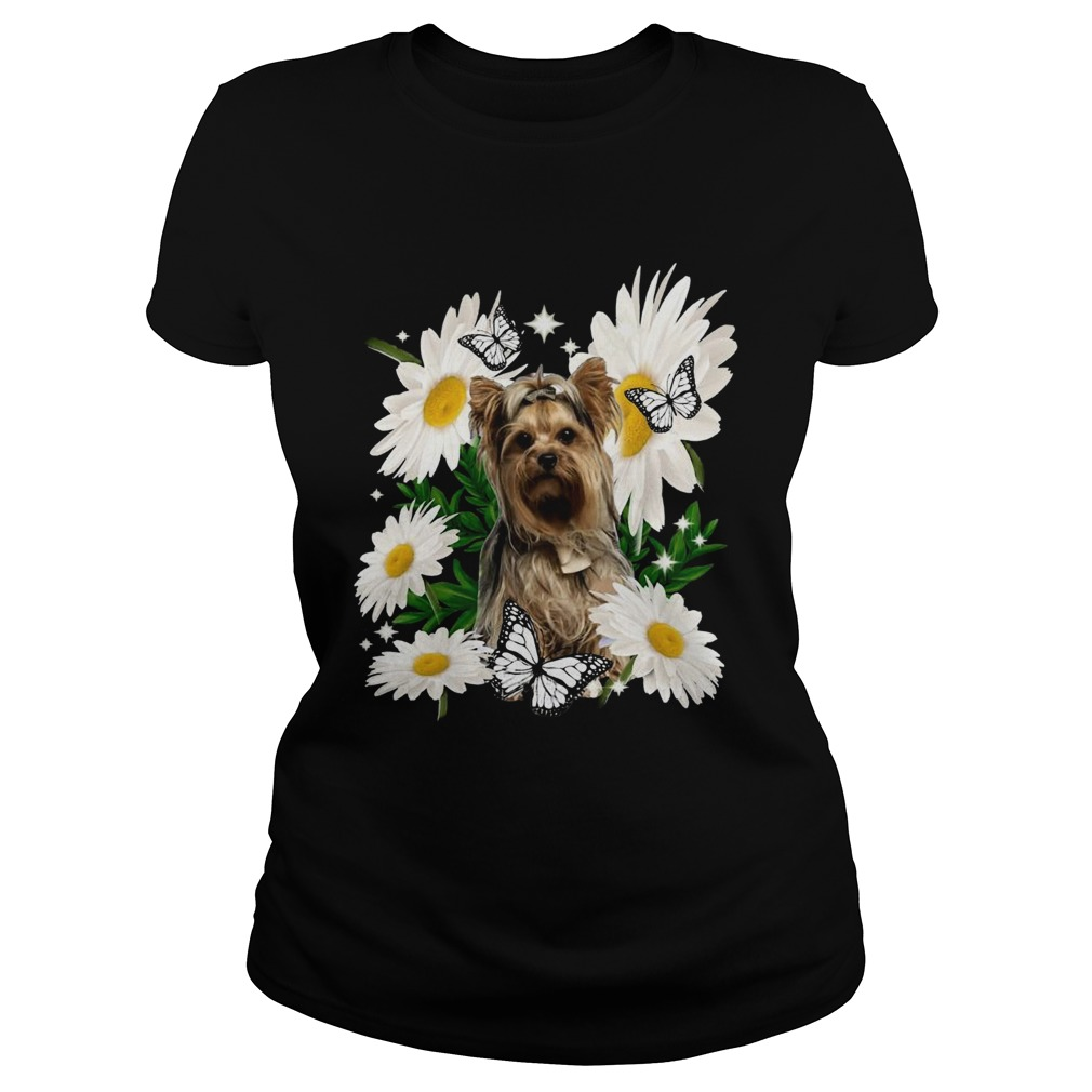 Yorkshire Terrier Dog Daisy Flower Classic  Classic Ladies