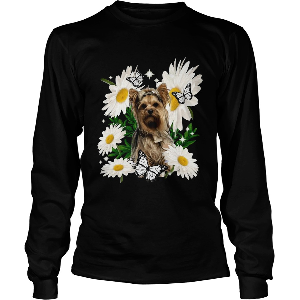 Yorkshire Terrier Dog Daisy Flower Classic  Long Sleeve