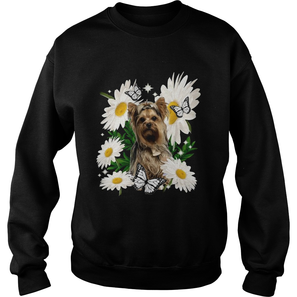 Yorkshire Terrier Dog Daisy Flower Classic  Sweatshirt