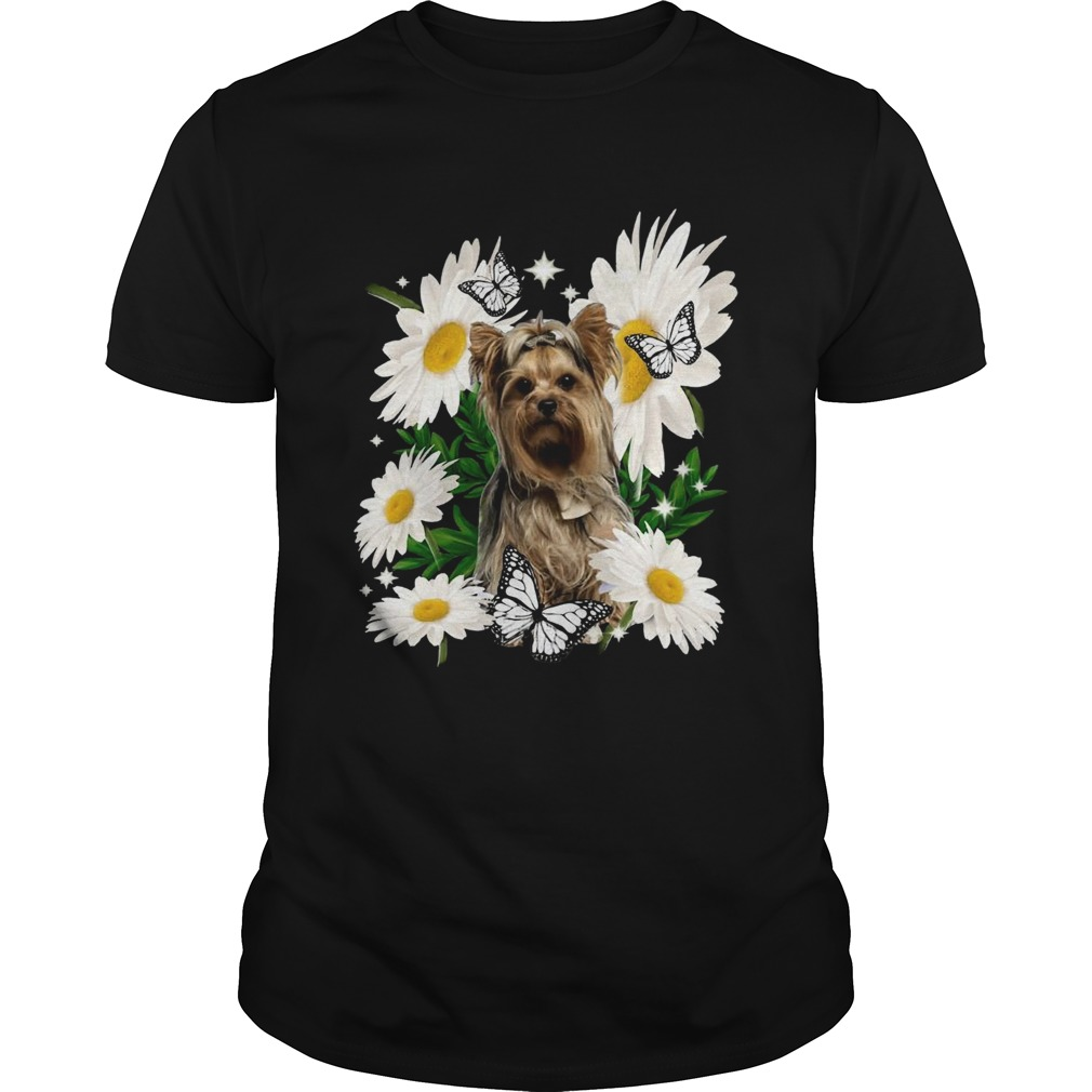 Yorkshire Terrier Dog Daisy Flower Classic  Unisex