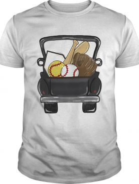 softball baseball car shirt