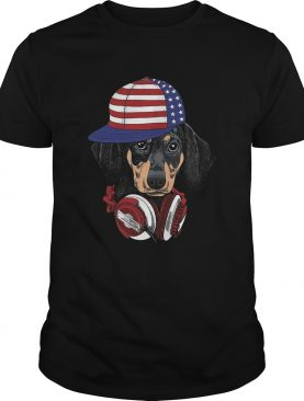 4 Of July Dachshund Listening Music shirt