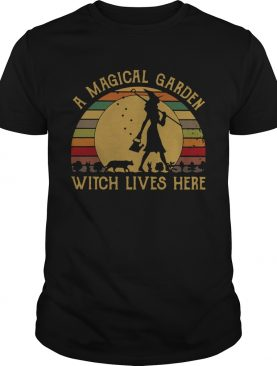 A Magical Garden Witch Lives Here Vintage shirt