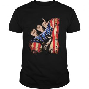 American Sign Language hand American flag veteran Independence day shirt