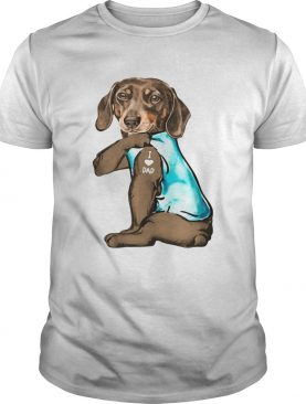 Dachshunds Tattoos I Love Dad shirt
