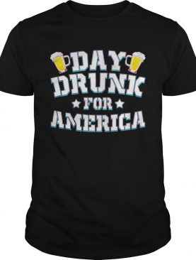 Day drunk for america beer stars shirt