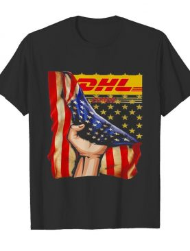 Dhl express american flag independence day shirt