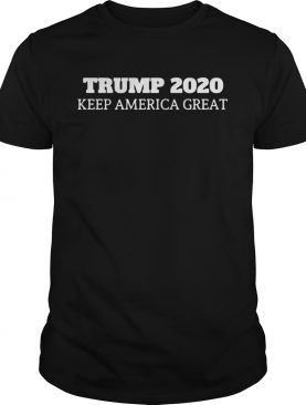 Donald trump 2020 keep america great black shirt