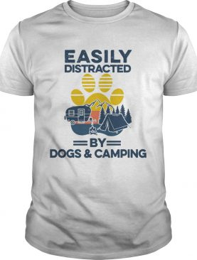 Easily Distracted By Dogs And Campers Vintage shirt