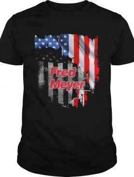 Fred meyer american flag independence day shirt