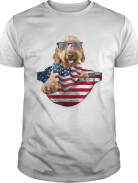 Goldendoodle waist pack american flag independence day shirt