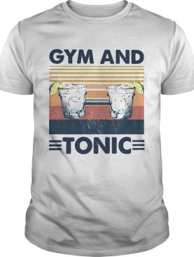 Gym And Tonic Fitness Drawstring Vintage shirt
