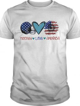 Hockey love heart sunflower American flag veteran Independence Day shirt