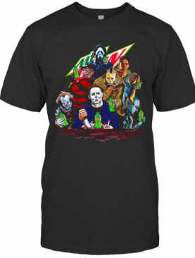 Horror Movies Characters Mountain Dew T-Shirt