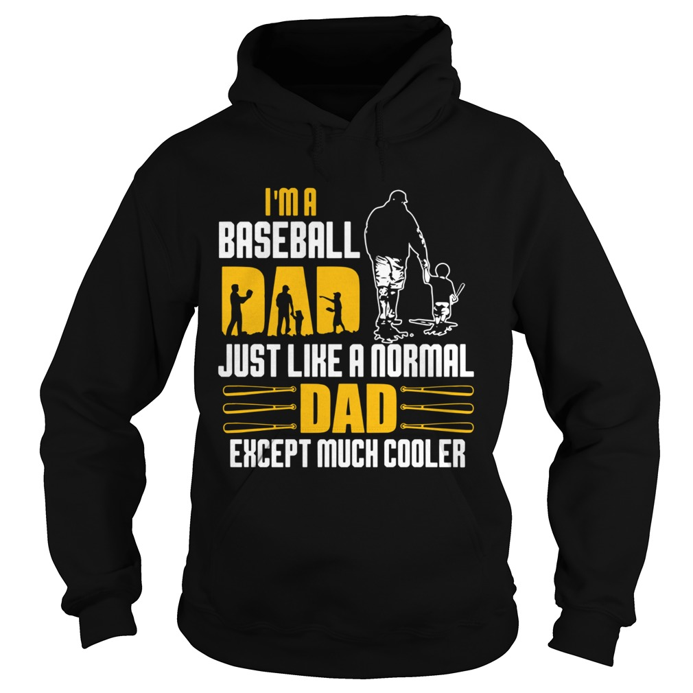 Im A Baseball Dad Just Like A Normal Dad Except Much Coller  Hoodie