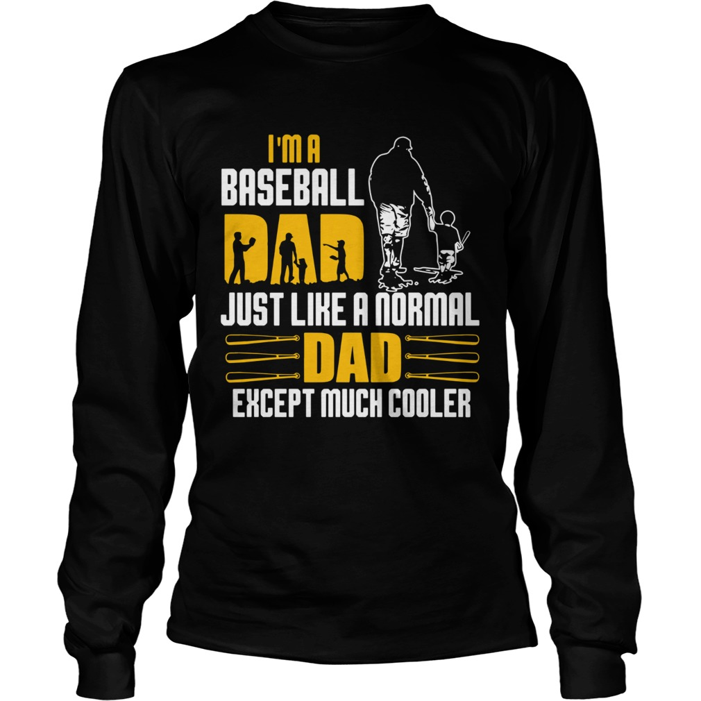 Im A Baseball Dad Just Like A Normal Dad Except Much Coller  Long Sleeve