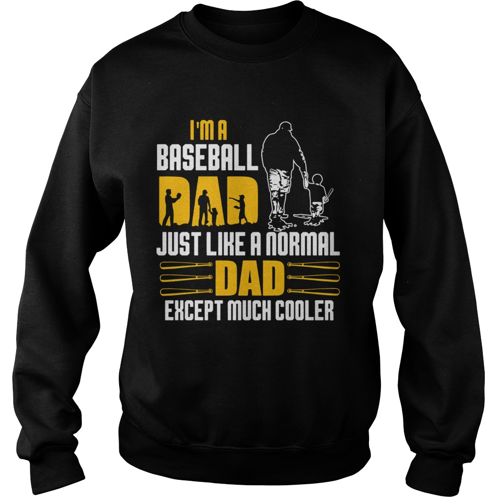 Im A Baseball Dad Just Like A Normal Dad Except Much Coller  Sweatshirt