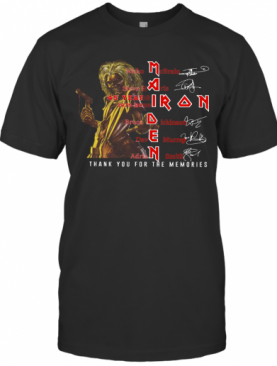 Iron Maiden 45 Years 1975 – 2020 Thank You For The Memories Signatures T-Shirt