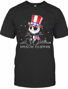 Jack Skellington American Nightmare 4Th Of July Independence Day T-Shirt