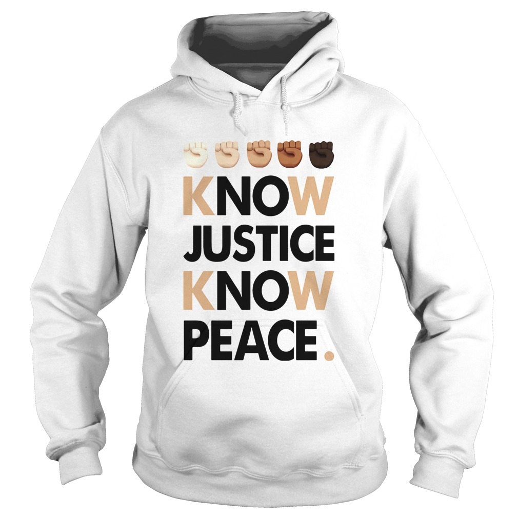 Juneteenth know justice know peace  Hoodie