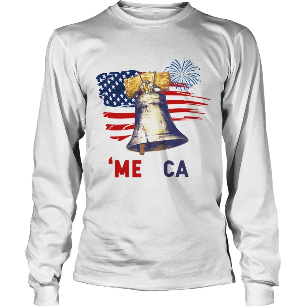 Liberty Bell Merica 4th Of July American Flag  Long Sleeve