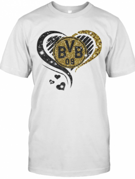 Love Borussia Dortmund Hearts Diamond T-Shirt
