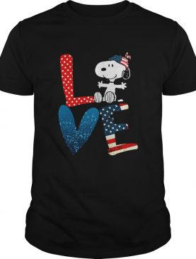 Love Snoopy Independence Day shirt
