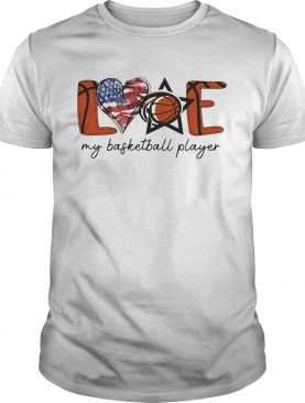 Love my basketball player american flag independence day shirt