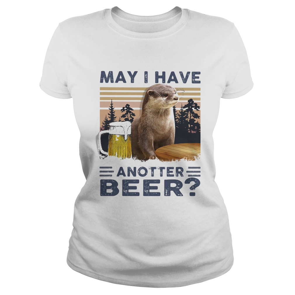 MAY I HAVE ANOTHER BEER SQUIRREL VINTAGE RETRO  Classic Ladies