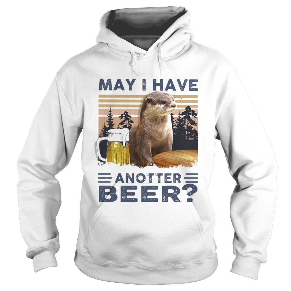 MAY I HAVE ANOTHER BEER SQUIRREL VINTAGE RETRO  Hoodie