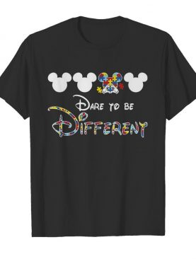 Mickey mouse autism awareness dare to be different shirt