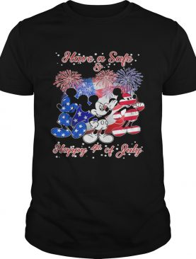 Mickey mouse have a safe and happy 4th of july firework american flag independence day shirt