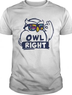 Owl right colors water shirt
