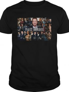 Peaky blinders characters signatures poster shirt