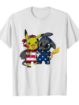 Pokemon and toothless america 4th of july independence day shirt
