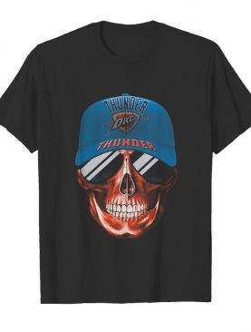 Skull smile oklahoma city thunder football shirt