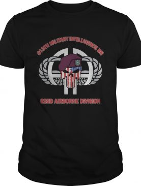 Skull veteran 313th military intelligence bn 82nd airborne division american flag independence day