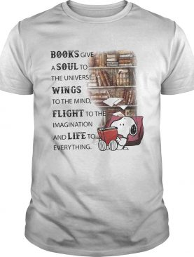 Snoopy books give a soul to the universe wings to the mind flight to the imagination and life to ev