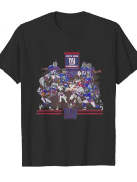 Super bowl new york giants champions players signatures shirt