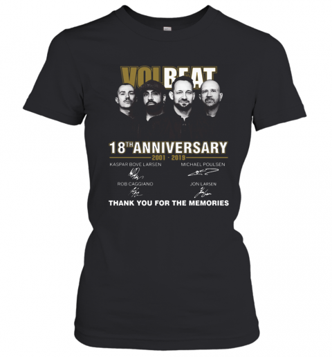 Team Volbeat 18Th Anniversary 2001 2019 Signature Thank You For The Memories T-Shirt Classic Women's T-shirt