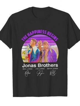 The Happiness Begins Jonas Brothers Signatures shirt
