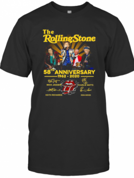 The Rolling Stone 58Th Anniversary 1962 2020 Signatures T-Shirt