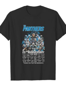 The carolina panthers football 25th anniversary 1995 2020 thank you for the memories signatures shirt
