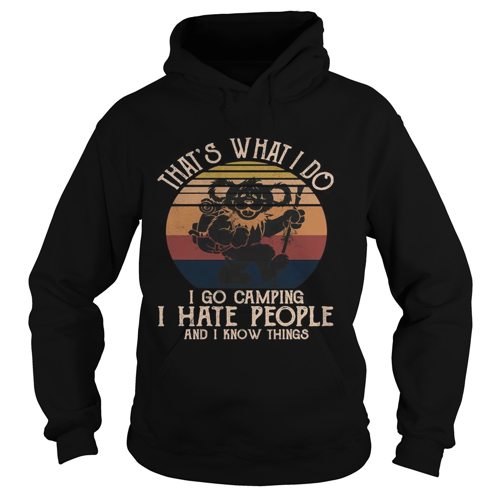 Bear thats what i do i go camping i hate people and i know vintage retro  Hoodie