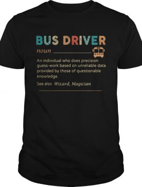 Bus Driver Color Noun An Individual Who Does Precision shirt