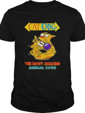 Cat dog the most amazing animal ever shirt