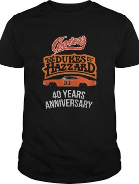 Cooters the dukes of hazzard 40 years anniversary shirt