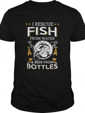 I Rescue Fish From Water And Beers From Bottles Bubble Star shirt